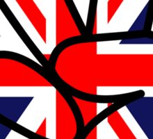 Peace British Style Sticker