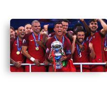 Portugal Win Euro 2016 Canvas Print