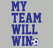 My team will win this soccer cup tshirt for soccer fans by tshirtbaba