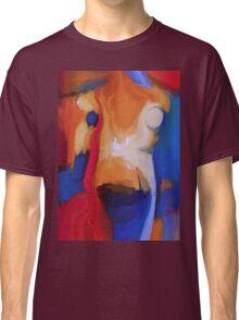 torse d'une femme avec un foulard rouge Classic T-Shirt