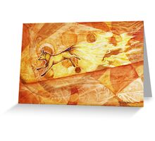The Nine Tailed Fox of Fire Greeting Card