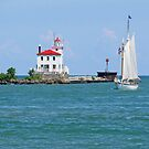 Tall Ship Enters Fairport Harbor by Jack Ryan