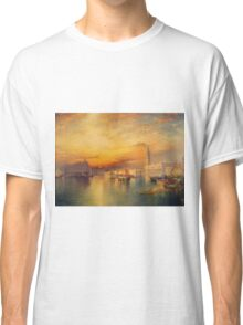 Thomas Moran - Grand Canal, Venice 1898. Mountains landscape: mountains, rocks, rocky nature, sky and clouds, trees, peak, forest, Canyon, hill, travel, hillside Classic T-Shirt
