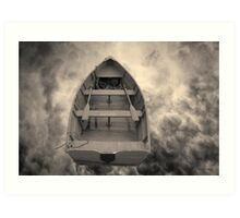 Boat and Clouds Toned Art Print