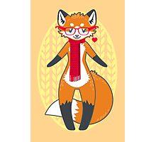 Nerdy Knitwear FOX Photographic Print