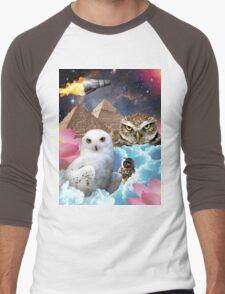 I Dream of Space Owls Men's Baseball ¾ T-Shirt