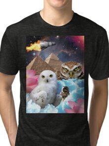 I Dream of Space Owls Tri-blend T-Shirt