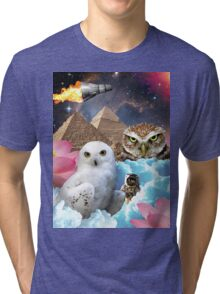 I Dream of Space Owls Tri-blend T-Shirt