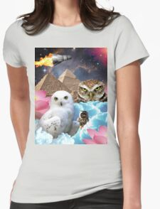 I Dream of Space Owls Womens Fitted T-Shirt
