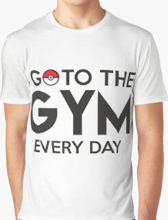 Pokemon - Go to the GYM Graphic T-Shirt