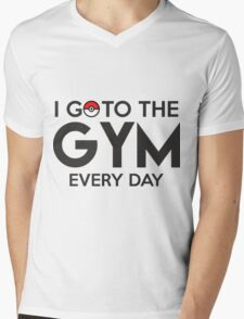 Pokemon - Go to the GYM Mens V-Neck T-Shirt