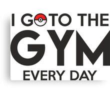 Pokemon - Go to the GYM Canvas Print