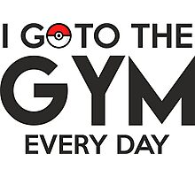 Pokemon - Go to the GYM Photographic Print