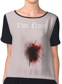 I am fine, Bullet shot Chiffon Top