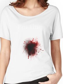 I am fine, Bullet shot Women's Relaxed Fit T-Shirt