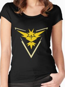 Pokemon GO - Team Instinct (Yellow) Women's Fitted Scoop T-Shirt