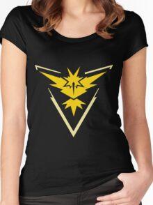 Pokemon GO - Team Instinct (Yellow) Women's Fitted Scoop T-Shirt