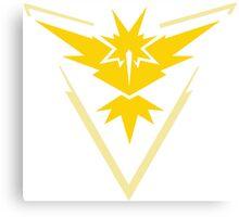 Pokemon GO - Team Instinct (Yellow) Canvas Print