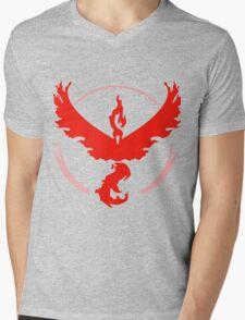 Pokemon GO - Team Valor (Red) Mens V-Neck T-Shirt