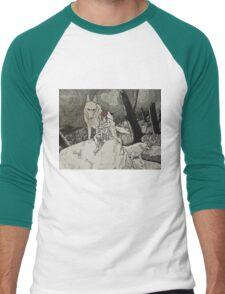Forest Mononoke Men's Baseball ¾ T-Shirt