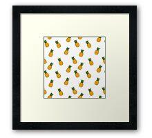 Cute pineapple patterns  Framed Print