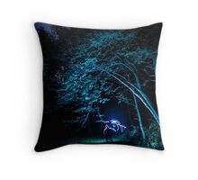 Arched tree with light paint Throw Pillow
