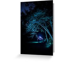 Arched tree with light paint Greeting Card