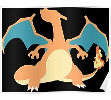 Kanto Starters - Charizard Poster