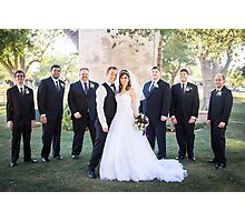 Tucker Wedding - Groomsmen Photographic Print