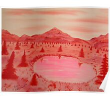 Red Mountains All Shades of Red and Pink Poster