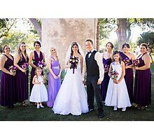 Tucker Wedding - Bridesmaids Photographic Print