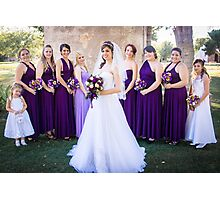 Tucker Wedding - Bridesmaids 2 Photographic Print