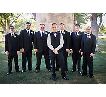 Tucker Wedding - Groomsmen 2 Photographic Print