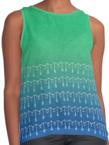 Droplets, Green and Blue Contrast Tank