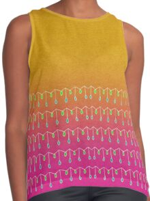 Droplets, Orange and Pink Contrast Tank