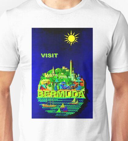 """BERMUDA"" Vintage Travel Advertising Print Unisex T-Shirt"