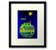 """BERMUDA"" Vintage Travel Advertising Print Framed Print"