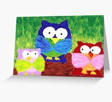 owl trio Greeting Card