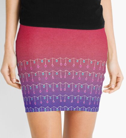 Droplets, Pink and Purple Mini Skirt