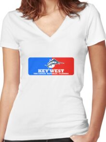 Key West Sport Fishing Women's Fitted V-Neck T-Shirt