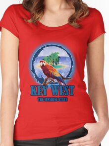 The Sunset State Of Key West Women's Fitted Scoop T-Shirt