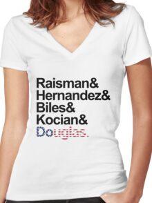 TEAM USA (WOMEN) Women's Fitted V-Neck T-Shirt