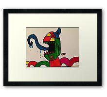 Blue Tongue Gobble Framed Print