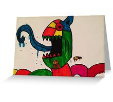Blue Tongue Gobble Greeting Card