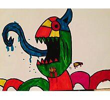 Blue Tongue Gobble Photographic Print
