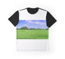 Old barn in field Graphic T-Shirt