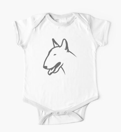 Bull Terrier HEAD Bullterrier One Piece - Short Sleeve