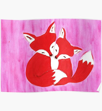 cute foxes !!! Poster