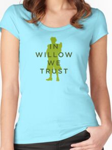 In Willow We Trust - Light Apparel Women's Fitted Scoop T-Shirt