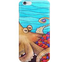 The Fruitarian Octopus. iPhone Case/Skin